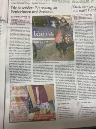 Heute ein Artikel in der Saarbrücker Zeitung über unsere Leistungen